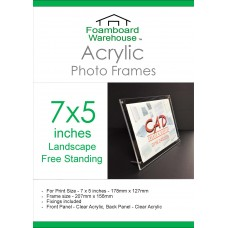 7'' x 5'' Landscape Free Standing Acrylic Photo Frame