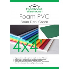 4' x 4' (1220 x 1220mm) 5mm DARK GREEN Foam PVC - Single Sheet