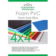 4' x 4' (1220 x 1220mm) 5mm DARK BLUE Foam PVC - Single Sheet