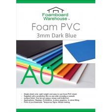 A0 3mm Foam PVC Dark Blue
