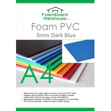 A4 3mm Foam PVC Dark Blue