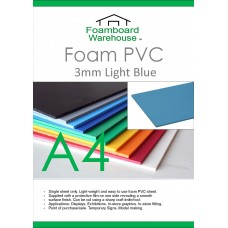 A4 3mm Foam PVC Light Blue