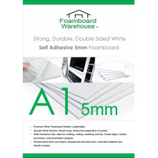 A1 (840 x 594mm) 5mm Self Adhesive White Foamboard (10 Sheets)