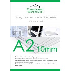 A2 420mm x 594mm 10mm White Foamboard packed 12s