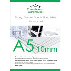 A5 10mm white Foamboard packed in 5's