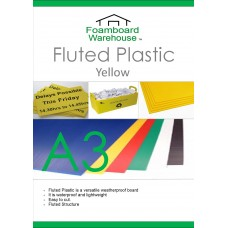 A3 Yellow Fluted Plastic Sheet