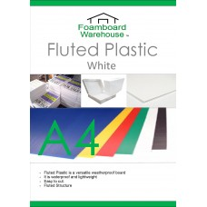 A4 White Fluted Plastic Sheet